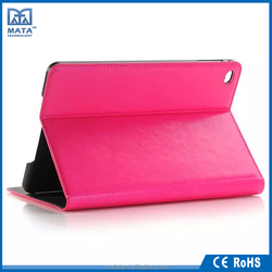 Customized Color and Sizes 4 Stand Leather Case for iPad Mini 4