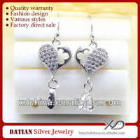 XD C612 925 sterling silver accessories to make earrings