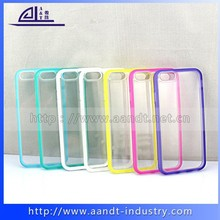 [New Arrival] TPU(colorful)+PC(clear) protective case cover for iPhone 6 4.7 inch / 5.5 inch