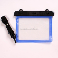 Eco-friendly soft tpu waterproof bag for mini tablet with string,Universal waterproof case