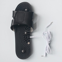 Electronic vibrating massage shoes work with Tens Ems stimulator support 2.0pin and 3.5mm snap