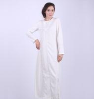 Embroidery white Embroidery Muslim Abaya