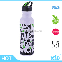 Air transfer printing which can print your design all over the bottle 750ml stainless steel sport water bottle