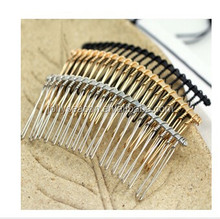 20 Teeth Wedding Bridal DIY Wire Metal Hair Comb Clips Hair Findings Accessories