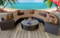 Outdoor Leisure Garden Rattan Round Shaped Sofa