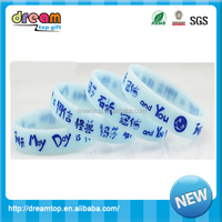 May day bracelets glow in the dark silicone bracelets