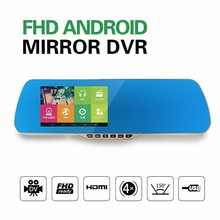 "Shenzhen rearview mirror gps wireless camera,5""camdroid dual core rearview mirror"