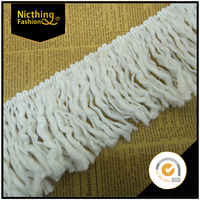 Wholesale curtain lace trimming tassel yarn for carpet fringe NTF055