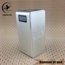 E smart electronic cigarette hammer of god box mod clone from kepler factory