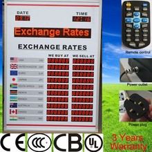Alibaba express hot new product! Floor stand Red LED digital electronic exchange rate board for Arabic countries