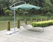 brushed aluminum frame sun lounger