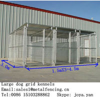 Portable dog run kennels 1.5mx3.0mx1.8mx3 runs dog kennels with frame top