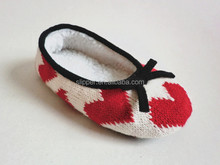 2015 new design soft warm knit baby indoor shoes moccasins kid/child ballet shoes