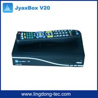 JYNX iptv box JYAXBOX Ultra HD V20 FTA Satellite TV Receiver With JB200 Wifi adapter for north america