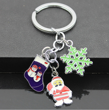 China Wholesale Brand New Creative Christmasman Snowflake Christmas Stocking Christmas Keychain
