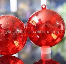 Yuanke christmas ornaments hollow acrylic ball with barious colors and sizes