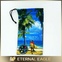 Brand new promotional gift microfiber mobile phone drawstring pouch,viscose rayon fabric