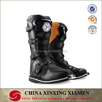Mens Black Top quality Leather Motocross Boots