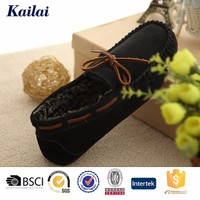 Brazil imported black canvas leather men loafers casual shoes