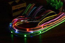 2015 NEW LED Dog Leash Supplies Teddy Dog Noctilucent Pet Leash Drawstring Traction Rope Nylon Stones