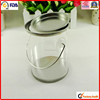 hand craft packing see through plastic round clear tin boxes