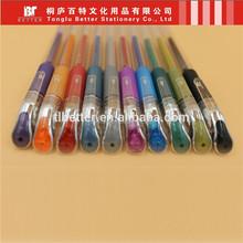 metallic glitter top part high end rainbow gel pen tattoo pen skin pen