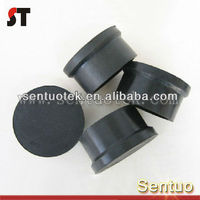 Long Working Life Black Round Rubber Feet