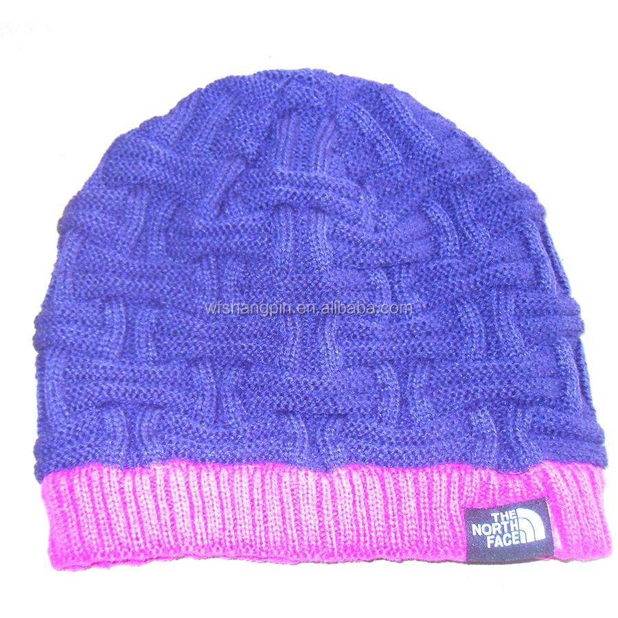 Patrón de punto crochet Beanie moda europea slouch hat etiqueta ...