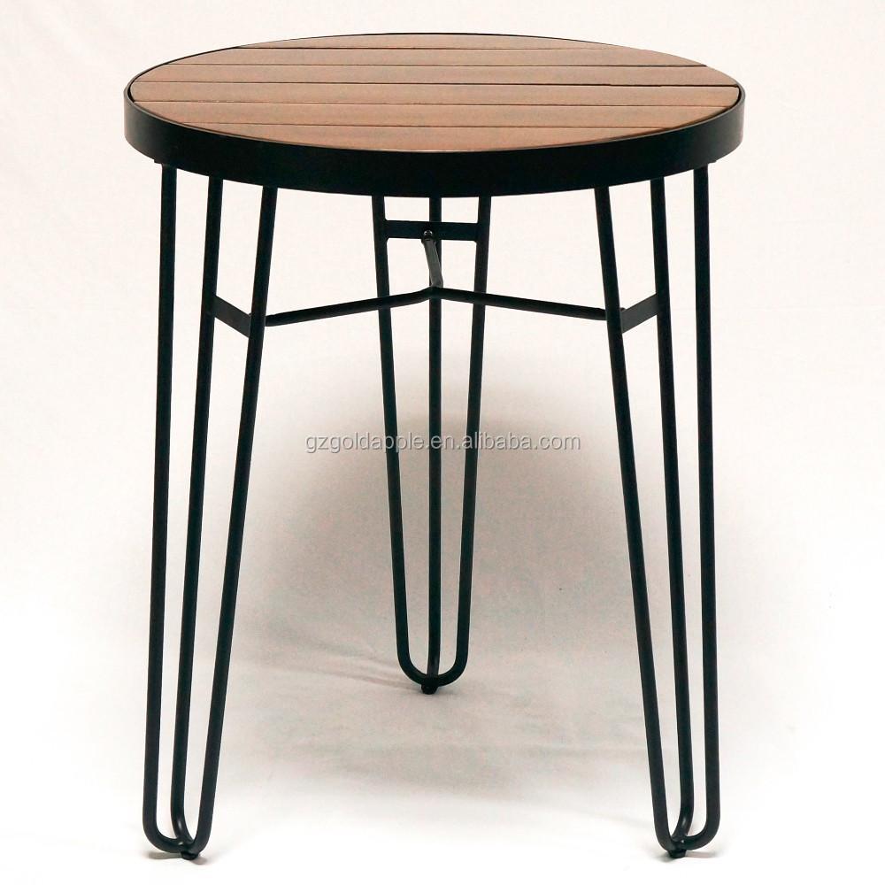 카페/레스토랑 나무 라운드 식탁, 야외 와이어 자료 나무 최고 ...
