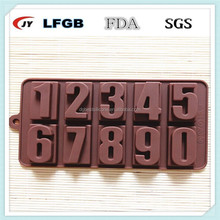 3D cake decorations letter and numbers silicone mold