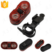 2015 Trade Assurance Supplier JING YI JY-528 3-Mode 0.5W 2 x Red LED safety light bicycle tail light