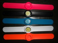 Silicone slap watch with customized logo for promotion