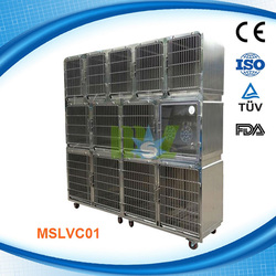 Modular stainless steel dog cage/pet cage MSLVC01D