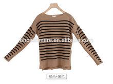70% lana 30% de la cachemira de punto tiras suéter suéter prendas de punto para damas
