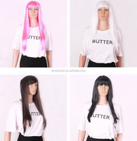 Wholesale Price Mix Colours Long Straight Colorful Cosplay Wig Women Men's Synthetic hair wig