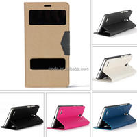 New View Leather Side Flip Wallet Cover Case For Xiaomi Hongmi Redmi Note