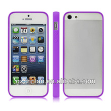 Double color Transparent PC+TPU moible phone case for iphone 5,Made in China manufacture