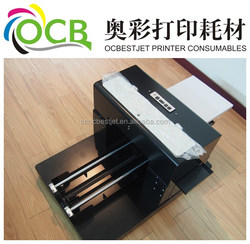 T-shirt printer A3 size printer digital 6 color dtg t-shirt printer with heating system