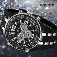 2015 New Arrival Dual Time Army Military Men Luxury Fashion Casual LCD Sports Watch