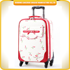 2015 wholesale women travelling luggage casual PU fashion luggage trolley bag