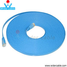 10M 30AWG Bare Copper Wire CAT5e Flat Patch Cable- Blue