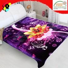 100% polyester blanket korean mink blanket cixi floral fleece blanket factory direct china