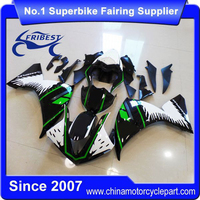 FFKYA006 China Fairings Motorcycle For R1 2009 2010 2011 Special White Green Big Monster
