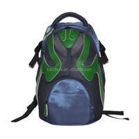 Japanese Style Theatrical Mask Print Backpack,Backpacks School Bag for Teens with Chinese Peking Opera Mask Design