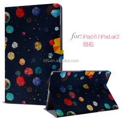 New case for ipad, for ipad printing case, stand leather case for iPad