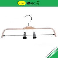 LM5006 With Clips Laminated Wooden Hanger