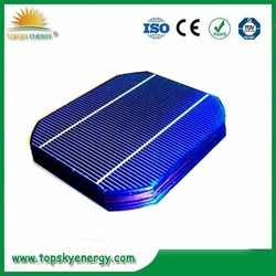 "18%-18.8% efficiency 2.79w-2.88w wholesale prices for 5"" inch efficiency 2BB Mono Solar Cell made in China"