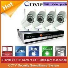4ch 720P 1.0MP P2P outdoor wireless wifi with NVR CCTV Security Surveillance video alarm systems security home NVR Kits