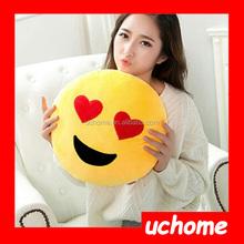 UCHOME wholesale abundant super cute QQ emoji design round pillow