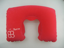 Cheap price can print private branding promotioanl travel inflatable neck pillow